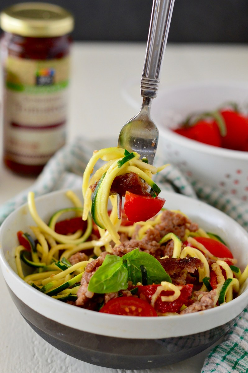 Mediterranean Zucchini Pasta & Healthy Back to School Meal Ideas!