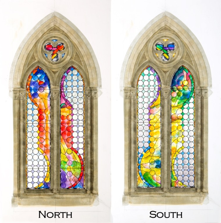Water-colour designs for stained-glass windows