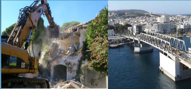 Exemple Facon De Entre Villa En Tunisie  Démolition d'une centaine