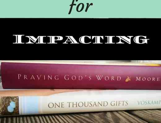 Two instrumental books for impacting spiritual growth; How reading these two books changed my habits by pointing to life-giving truths in Scripture.