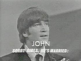 "John's ""marriage announcement"" on the Ed Sullivan Show"