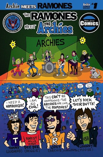 The Archies are thrust into the counter-culture in this alternate cover by Ramones artist John Holstrom