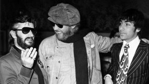 Ringo Starr, Harry Nilsson, and Keith Moon