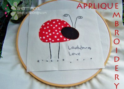 ladybug quilt block applique tutorial