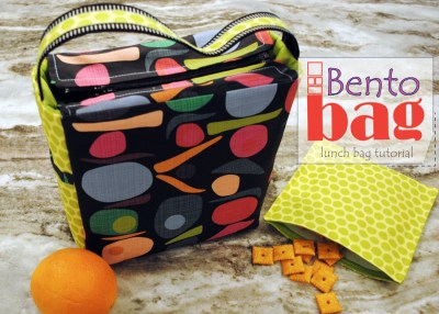 Bento Bag - a lunch bag tutorial from RebeccaMaeDesigns
