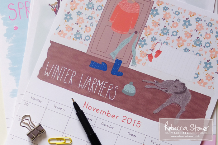 Illustratred Calendar - Blog Post - Rebecca Stoner