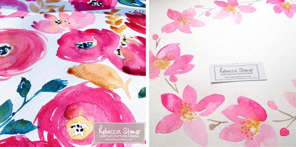 Watercolour Florals  by Rebecca Stoner