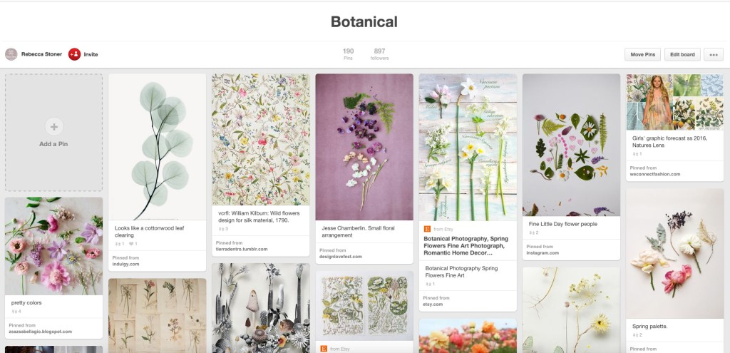 Rebecca Stoner Pinterest Botanical Inspiration
