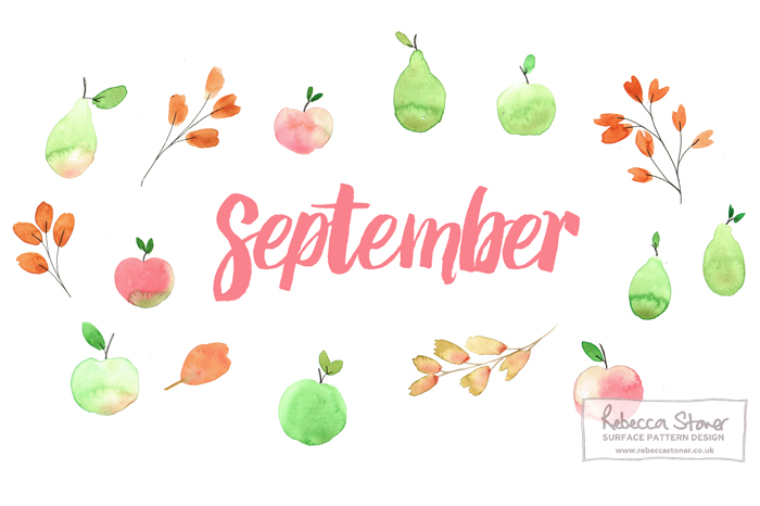 Free September Desktop Calendar by Rebecca Stoner