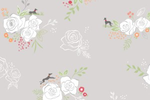 Whippets and Roses – Yorkshire Kimono