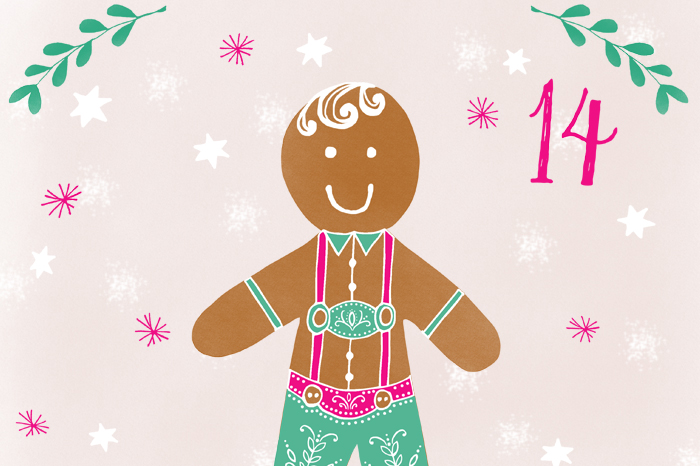 Illustrated Advent 2015 day 14 by Rebecca Stoner