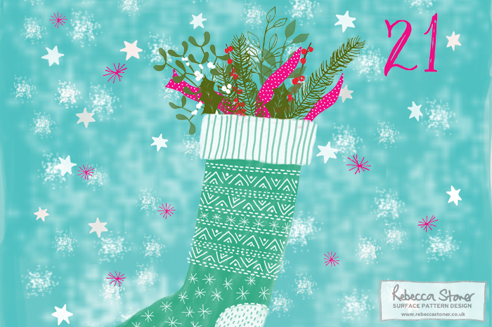 Illustrated Advent 2015 day 21 by Rebecca Stoner