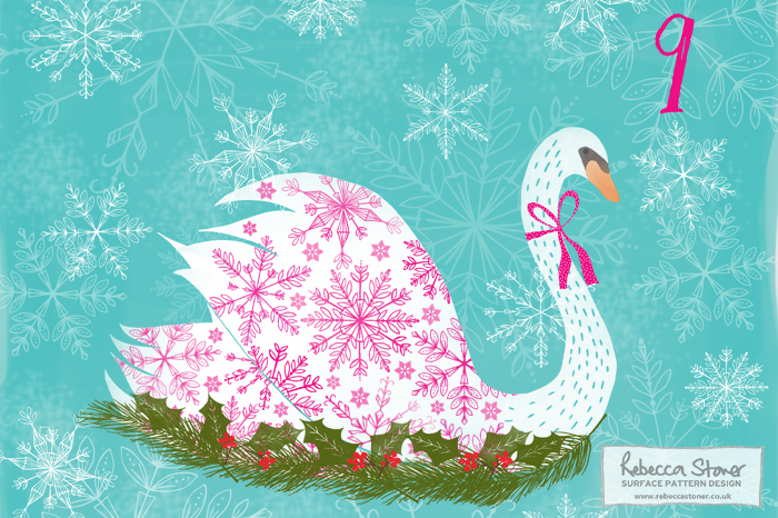 Illustrated Advent 2015 day 9 by Rebecca Stoner