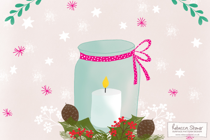 Illustrated Advent Challenge day 1 by Rebecca Stoner