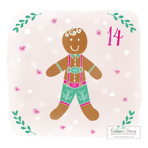 Illustrated Advent Day 14 by Rebecca Stoner