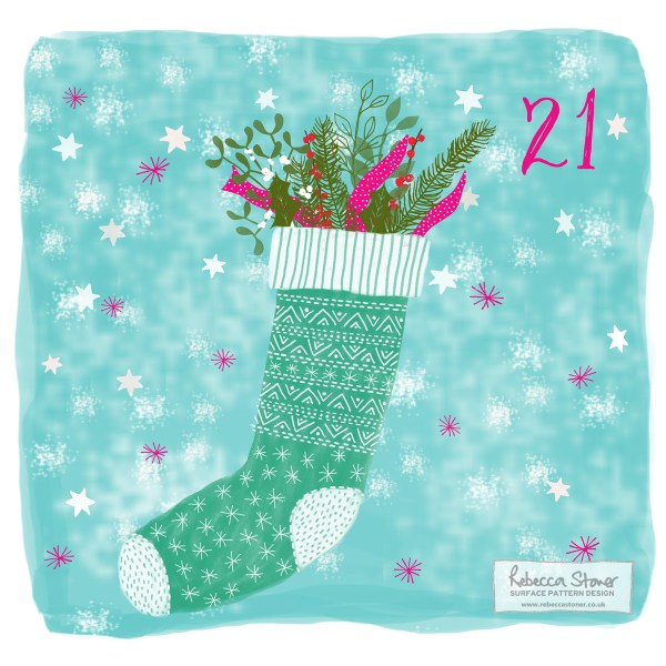 Illustrated Advent Day 21 by Rebecca Stoner