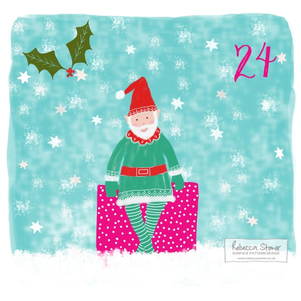 Illustrated Advent Day 24 by Rebecca Stoner