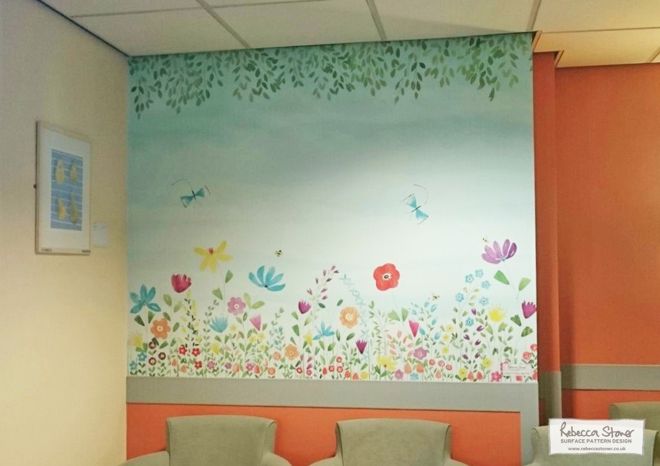 Oncology Waiting Area Wallpaper by Rebecca Stoner