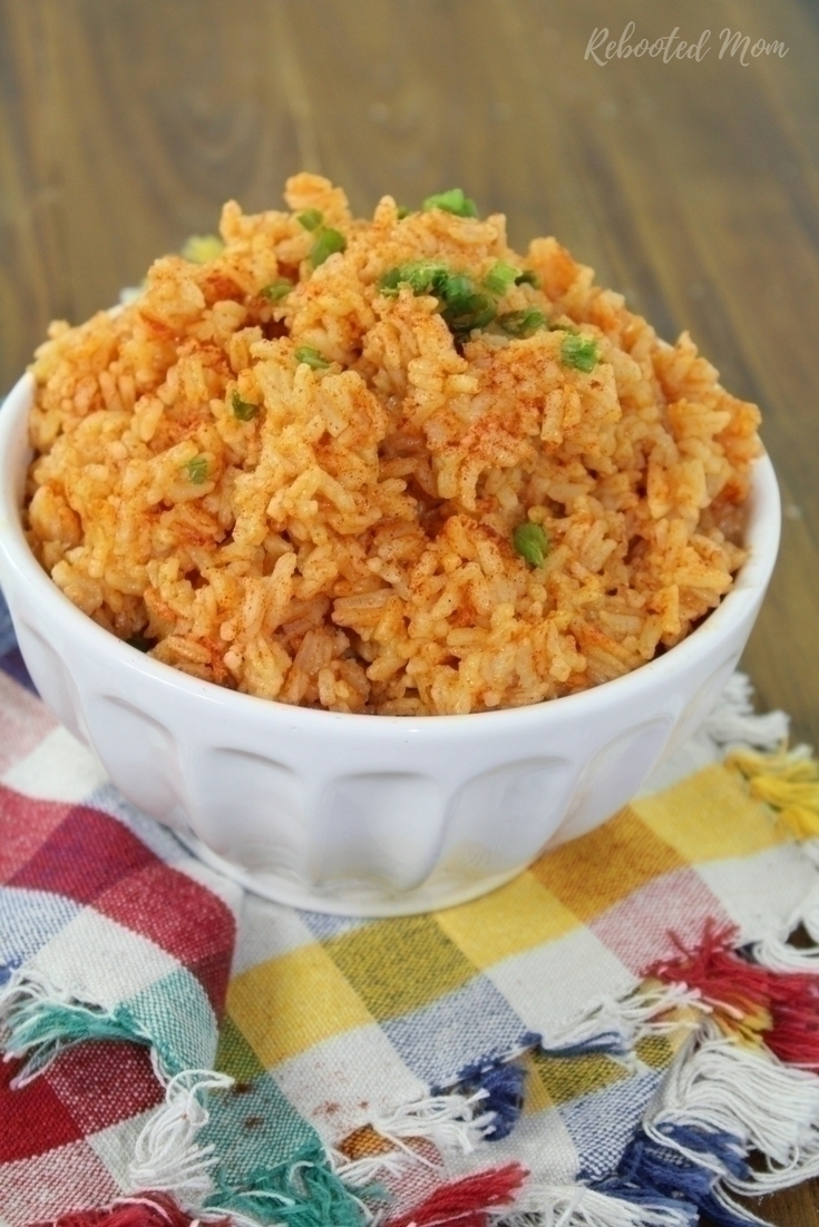 Paprika provides a pop of color & subtle flavor to the basic white rice - in the ease of your Instant Pot!