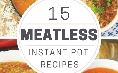 Sometimes we all need a little variety in our meals! Here are 15 easy Meatless Meals you can make in your Instant Pot.