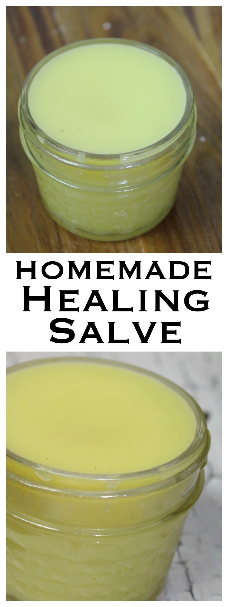 This healing salve requires a few simple ingredients & is perfect for cuts, scrapes, burns, and times when your skin needs an extra little help.