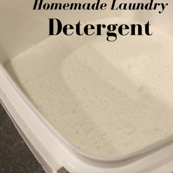 Homemade Powdered Laundry Detergent