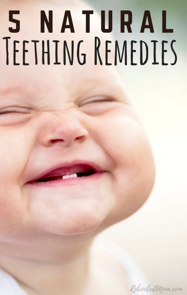 Having a teething baby can be a challenging time - not just for baby but also for mom and dad. Here are 5 natural teething remedies to help baby cope.