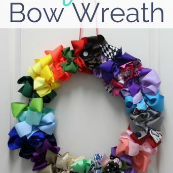 DIY Hair Bow Wreath