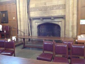 GC dining fireplace