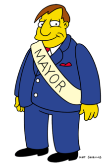 Mayor Quimba of Springfield (from the Simpsons). A classical Democrat, his motto: Corrupts in Extremus