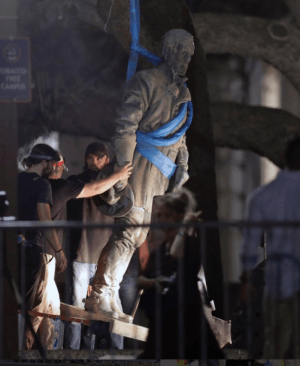 General Lee statue being removed from University of Texas.