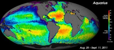World sea salinity
