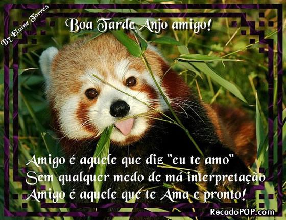 Recado Facebook Boa Tarde Anjo Amigo