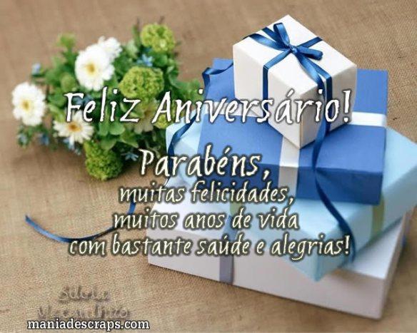 Recado Facebook Feliz aniversário, presentes pra você