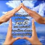 Recado Facebook Deus abençoe as famílias em 2013