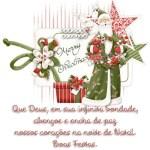 Recado Facebook Deus nos encha de paz no natal!
