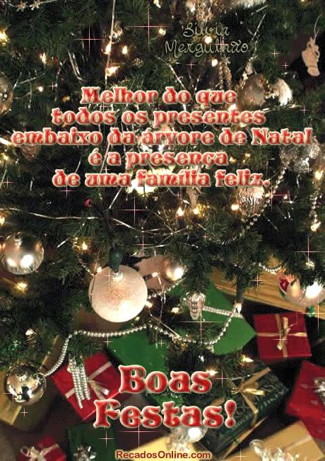 Recado Facebook Família feliz e unida no natal