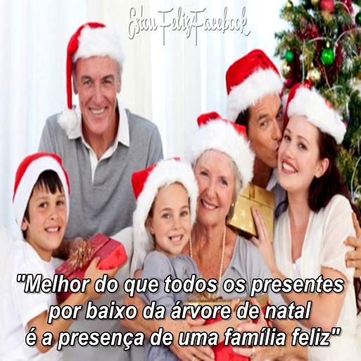 Recado Facebook Família feliz no natal