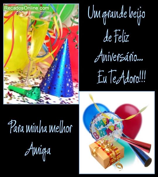Recado Facebook Pra minha melhor amiga, feliz aniversário!