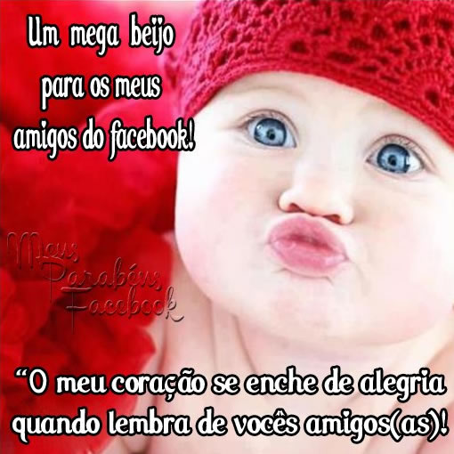 Recado Facebook Mega beijo pros amigos do facebook