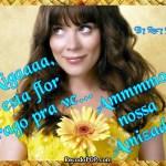 Recado Facebook Miga, flores pra você!