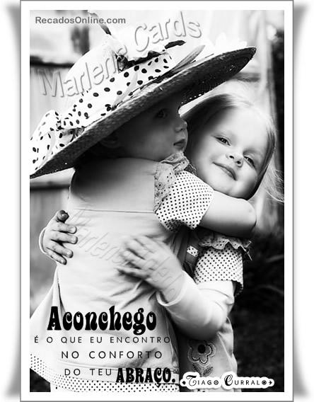 Recado Facebook Adoro seu abraço!