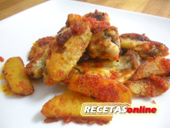 Pollo con tomate - Recetas de cocina RECETASonline
