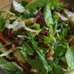 Salade de pousse d'épinards et artichauts © par Fanny GRW - Recettes d'ici et d'ailleurs