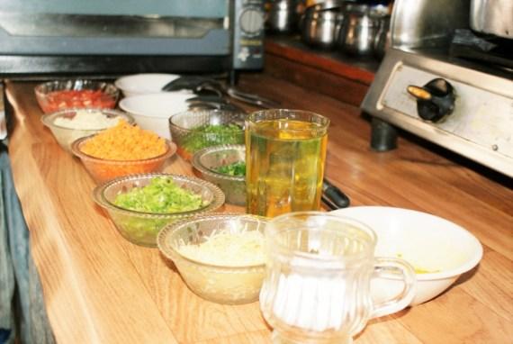 Ingrédients pour la farce des Pains tibétains fourrés aux légumes Special breads  - Cuisine tibétaine © Recettes d'ici et d'ailleurs
