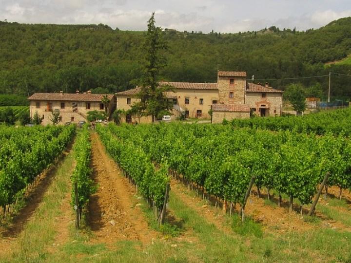 Montañas de Chianti en la Toscana
