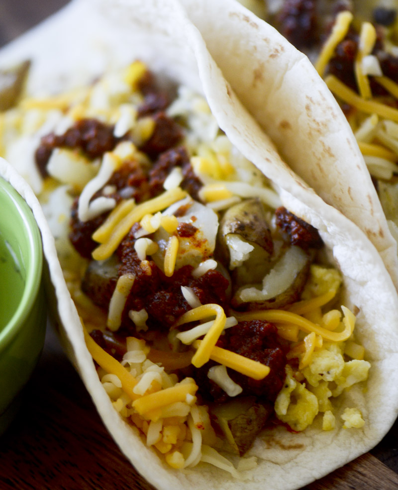 Large Of Breakfast Tacos Recipe