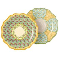 Grasslands Road Melamine Spring Meadow Dinner Plate Assortment, 10-3/4-Inch, Set of 4