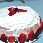 Sponge Cake with Fresh Fruit and Whipped Cream