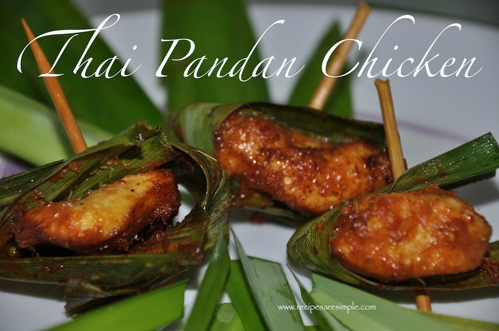 Thai Pandan Chicken Recipe - Gai Hor Bai Toey - Make it Delicious